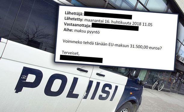 Poliisi varoittaa kansalaisia sähköpostin kautta leviävistä huijausviesteistä.