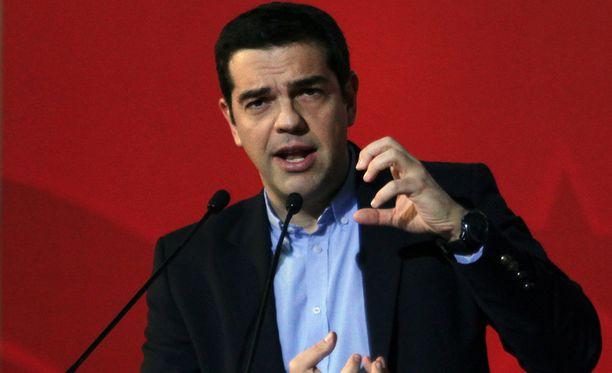 Pääminister Alexis Tsipras on johtaa Syriza-puoluetta.