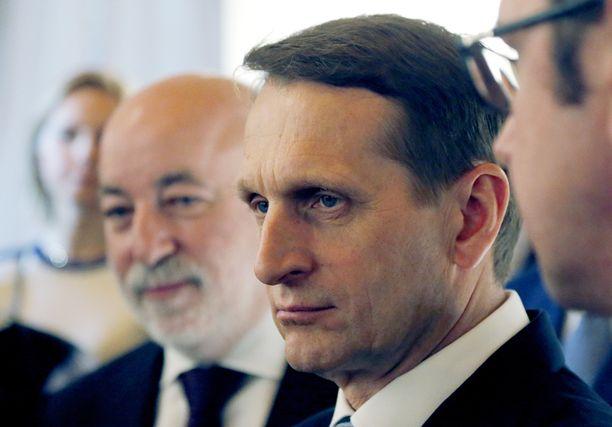 Venäjän duuman puhemies Sergei Naryshkin syyttää EU:n vallanpitäjiä kaksinaismoralismista.