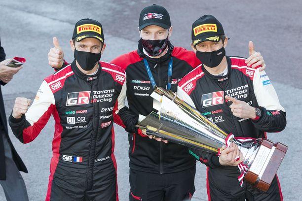 Sebastien Ogier ja kartturi Julien Ingrassia ajavat ensi kaudella osan MM-sarjasta. Jari-Matti Latvala tarvitsee uuden kuskin Toyotalle.