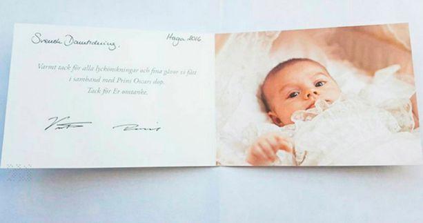 Prinssi Oscar kastettiin toukokuussa.