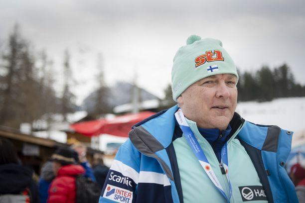 Reijo Jylhä seurasi hiihdon MM-kisoja Seefeldissä maaliskuun alussa.