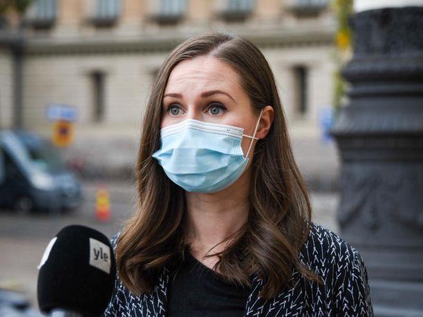 Pääministeri Sanna Marin (sd), maski.