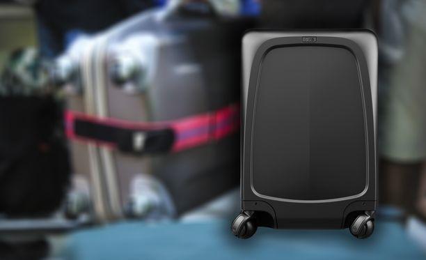 Ovis-matkalaukku seuraa omistajansa vierellä.