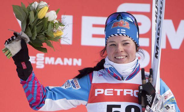 Krista Pärmäkoski otti sunnuntaina uransa ensimmäisen maailmancupin osakilpailuvoiton, kun hän oli ykkönen Planican perinteisen hiihtotavan kympillä.