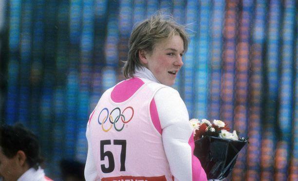 Toni Nieminen palasi Albertvillen olympialaisista kolmen mitalin kanssa.