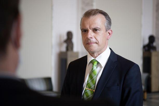 Keskustan eduskuntaryhmän puheenjohtaja Jussi Pylväs.