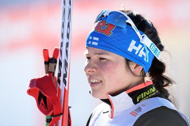Krista Pärmäkoski taistelee mitalista 10 km perinteisellä.