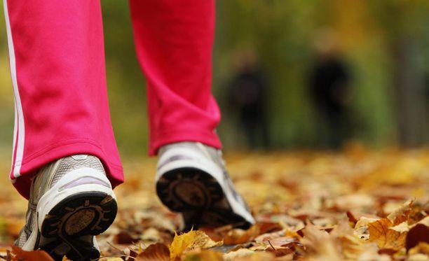 Reippaat kävelylenkit auttavat painonhallinnassa.