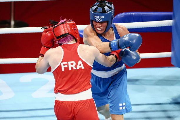 Mira Potkonen avasi olympiaurakkansa hienolla voitolla.