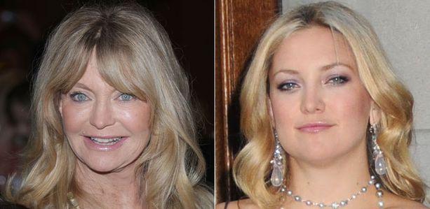 Äiti ja tytär Goldie Hawn ja Kate Hudson jakavat kauneusniksejä.
