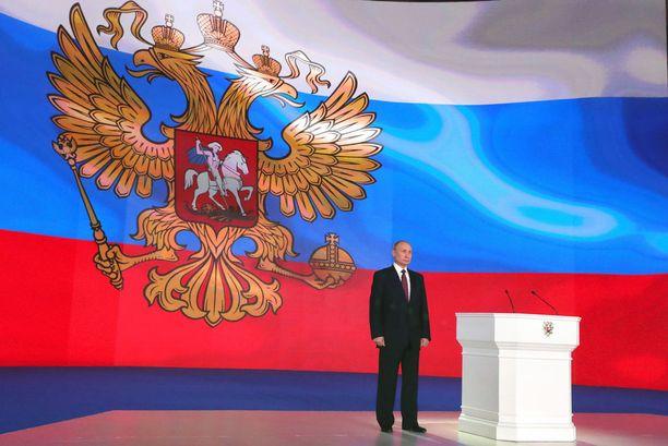 Vladimir Putin esitteli perinteisessä kansankunnan tila -puheessaan Venäjän uusia ohjuksia ja asejärjestelmiä.