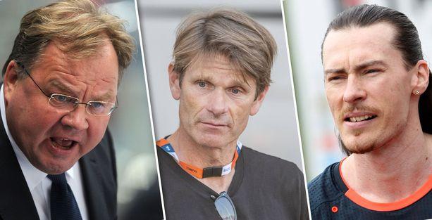 Hannu Jortikka, Marcus Grönholm ja Tommi Evilä ovat verbaalisesti lahjakkaita urheilumiehiä.