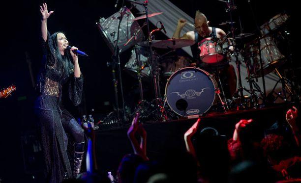 Nightwish-yhtyeen entinen solisti Tarja Turunen esiityi Roomassa toukokuussa.