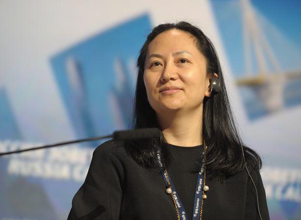 Kuvassa Huawein talousjohtaja Wanzhou Meng Moskovassa lokakuussa 2014.
