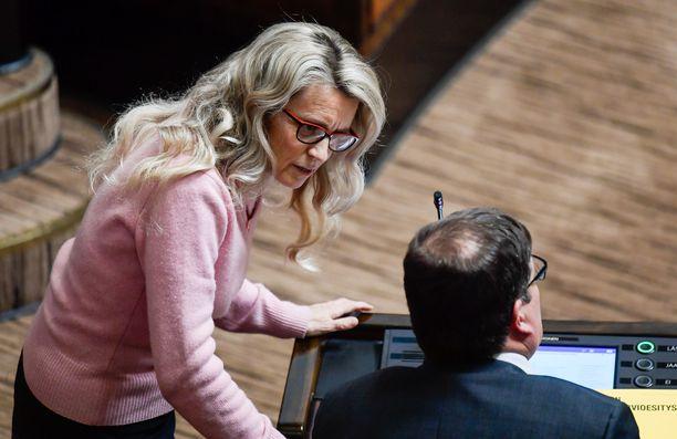 Kansanedustaja Päivi Räsänen on epäiltynä kahdesta viharikoksesta. Arkistokuva.