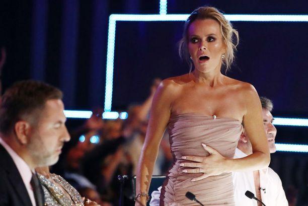 Talent-tuomari Amanda Holden kertoi pidättäneensä hengitystä jännityksestä.