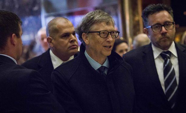 Bill Gates Trump Towerissa joulukuussa 2016.