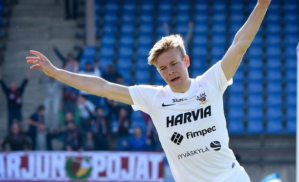 Iiro Järvinen ja JJK tuulettivat kauden päätteeksi.
