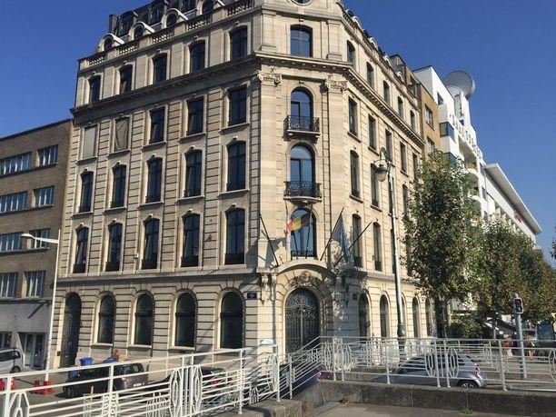 Belgialaisen eutanasiajärjestön toimitalo Brysselissä.