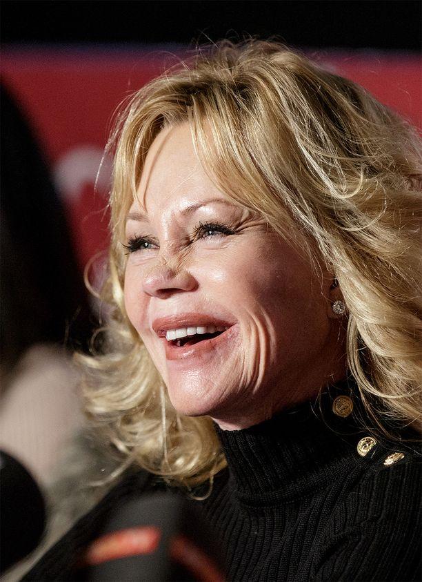 Melanie Griffithin syöpäkasvain poistettiin lokakuussa. Tähti näytti lehdistötilaisuudessa hyvävointiselta.