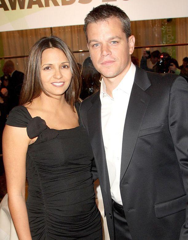 Matt Damon ja Luciana näyttäytyivät viikonloppuna Lontoossa.