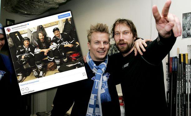 Kimi Räikkönen ja Peter Forsberg ovat tunteneet toisensa jo hyvän tovin.