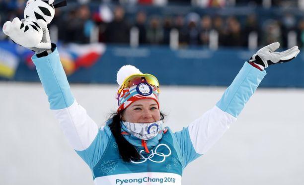 Krista Pärmäkoski voitti pronssia yhdistelmähiihdossa.