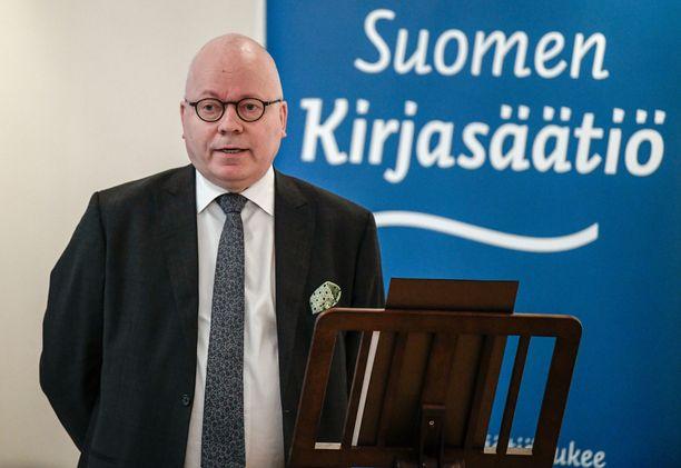 Viestintäyrittäjä Harri Saukkomaa toimi Tieto-Finlandian esiraadin puheenjohtajana.