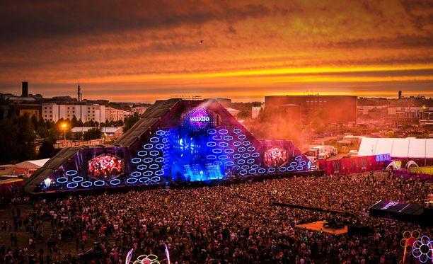 Aiemmin Weekend Festivalia on vietetty Kyläsaaressa.
