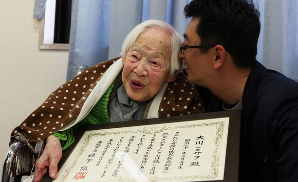 Japanin vanhin nainen Misao Ōkawa täytii 117 viime vuoden maaliskuussa. Hän kuoli kuukautta myöhemmin.