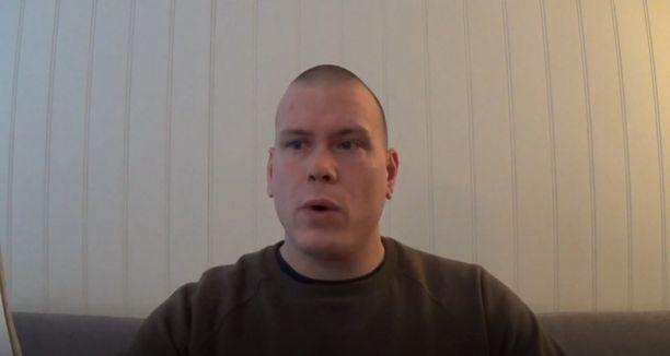 Espen Andersen Bråthen selfie-videolla.