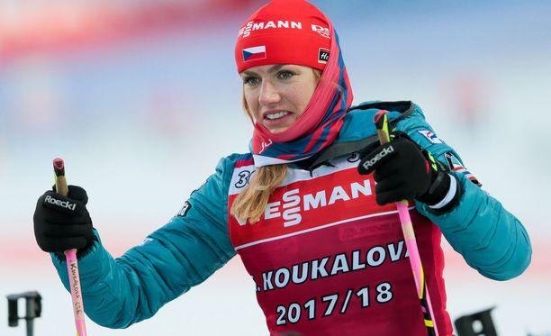 Tshekin Gabriela Koukalova ei ole kilpaillut kaudella 2017-18 kertaakaan ampumahiihdon maailmancupissa.