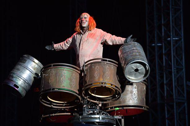 "Shawn ""Clown"" Crahan on Slipknot -yhtyeen perkussionisti."