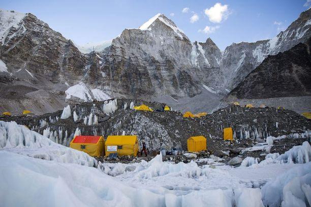 Näkymä Mount Everestin perusleiristä.