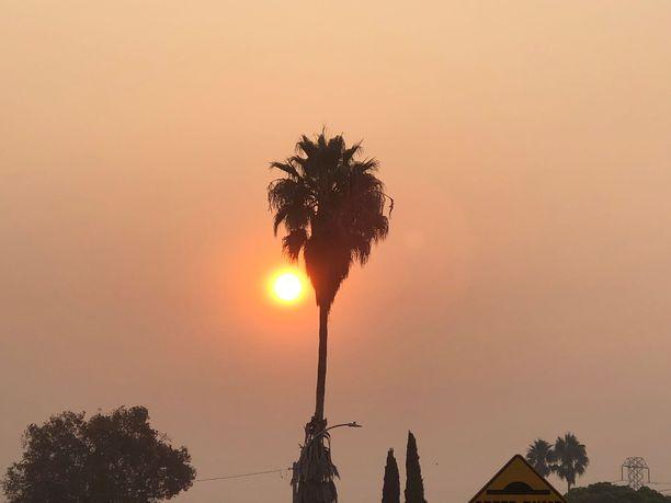 Kaliforniassa roihuavat maastopalot ovat tuoneet savua pohjoisesta Piilaaksoon.
