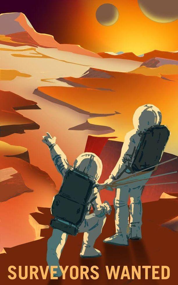 Tutkimusmatkailijoiden avulla selviää, mitä kraattereiden takaa löytyy.