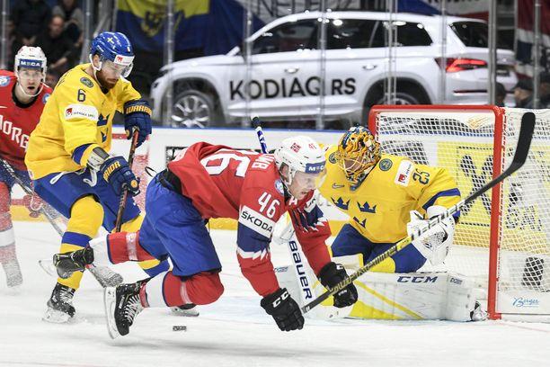 Norja kompuroi Ruotsin NHL-tähtiä vastaan.