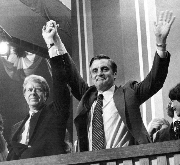 Walter Mondale (oikealla) tunnettiin lempinimellä Fritz.
