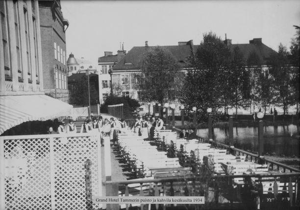 Tammerin terassitunnelmaa kesäkuussa 1934.