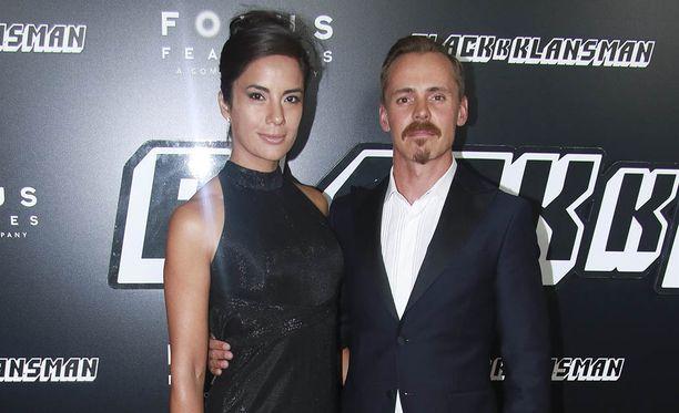 Jasper Pääkkönen edusti heinäkuussa 2018 Alexandra Escatin kanssa New Yorkissa BlacKkKlansman -elokuvan kutsuvieras ensi-illassa.
