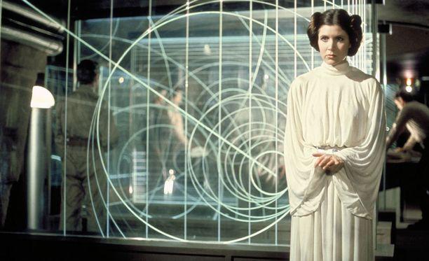 Carrie Fisher näytteli prinsessa Leiaa alkuperäisissä Star Wars -elokuvissa.