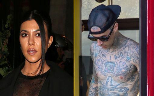 Pikaromanssi etenee: Kourtney Kardashianin uusi rakas tatuoi tämän nimen näyttävään paikkaan