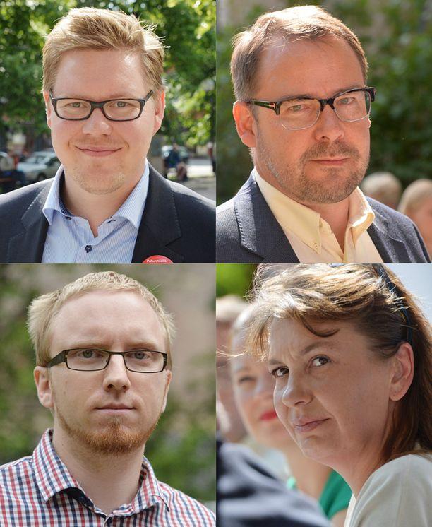 Antti Lindtman, Reijo Paananen, Simon Elo ja Riikka Slunga-Poutsalo osallistuvat kaikki parhaillaan Porin Suomi-areena-tapahtumaan.