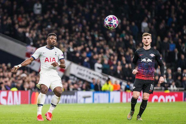Tottenham ja Leipzig kohtaavat toisessa Mestarien liigan osaottelussa tiistaina. Timo Wernerin (oikealla) pelikunto on kysymysmerkki.