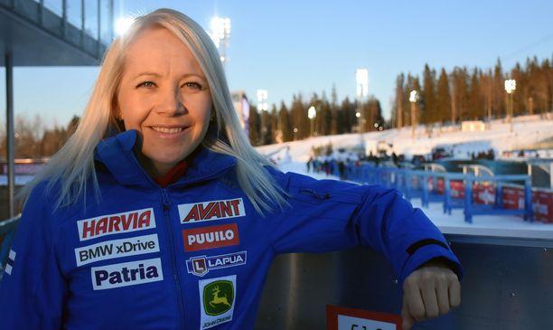 Ampumahiihtäjä Kaisa Mäkäräinen sai kuulla sovellukselta näyttävänsä 33-vuotiaalta.