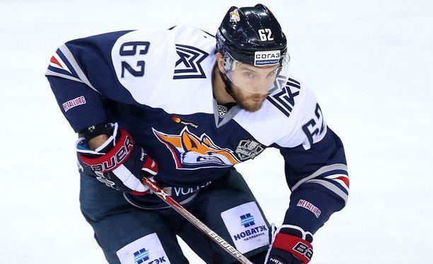 Oskar Osala oli pelipäällä KHL:n toisessa finaalissa.