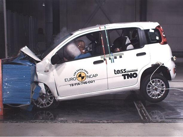 Fiat Panda on jäänyt turva-ajattelussa menneisyyteen. Nolla tähteä törmäystestistä on ohut saalis.