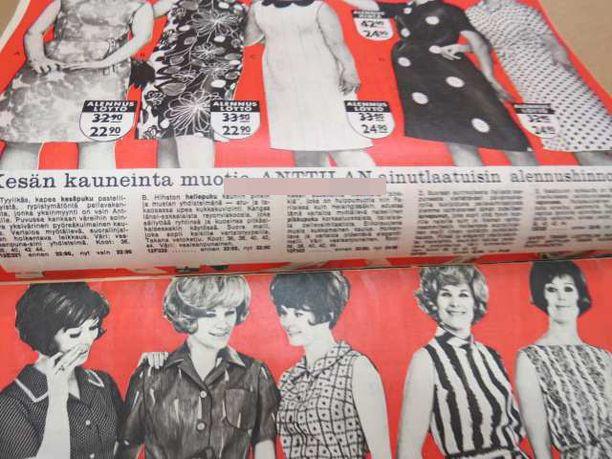 Anttilan kuvastot alkoivat ilmestyä 1950-luvun alussa. Kuvat vuoden 1965 numero kolmen suuralennusmyynnin lehdestä.