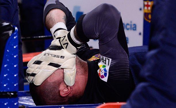 Victor Valdésin tuskaa.